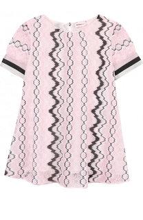 Мини-платье свободного кроя из смеси вискозы и хлопка Missoni