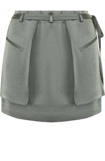 Однотонная мини-юбка с накладными карманами Valentino
