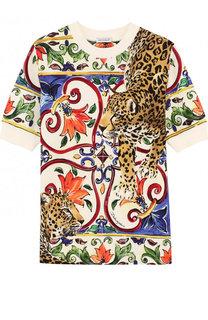 Хлопковая туника с принтом Dolce & Gabbana