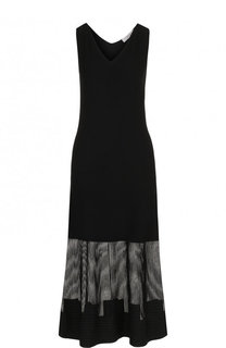 Приталенное платье-миди с V-образным вырезом D.Exterior