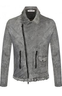 Кожаная куртка на молнии с поясом Giorgio Brato