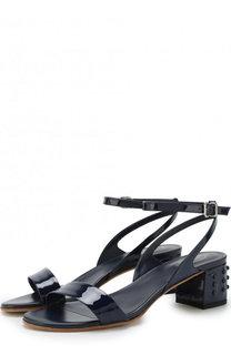 Кожаные босоножки на устойчивом каблуке Tod's Tods