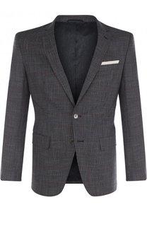 Однобортный пиджак из смеси шерсти и вискозы BOSS