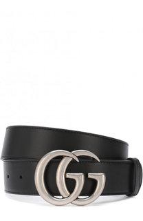 Кожаный ремень с фигурной пряжкой Gucci