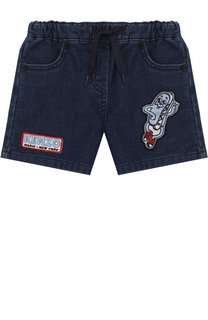 Джинсовые шорты с аппликациями Kenzo