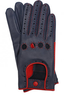 Кожаные перчатки с контрастной прострочкой Agnelle