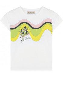 Хлопковая футболка с принтом Emilio Pucci
