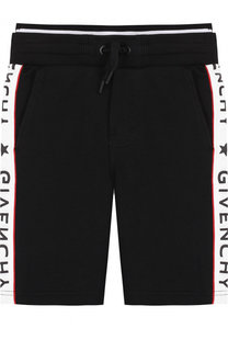 Хлопковые шорты с лампасами Givenchy