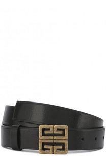 Кожаный ремень с фигурной пряжкой Givenchy