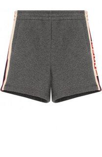 Хлопковые шорты с лампасами Gucci