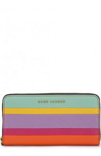 Кожаный кошелек на молнии с логотипом бренда Marc Jacobs