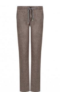 Льняные брюки прямого кроя Cortigiani