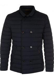 Утепленная стеганая куртка на молнии с отложным воротником Moorer