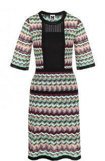 Приталенное мини-платье с коротким рукавом M Missoni