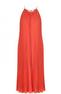 Однотонное плиссированное платье свободного кроя Escada Sport