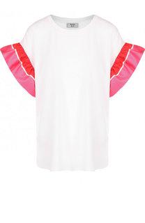 Хлопковая футболка с яркими оборками Weill