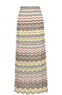 Вязаная юбка-миди из смеси хлопка и полиамида M Missoni