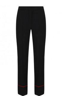 Укороченные брюки из вискозы с карманами Alexander McQueen