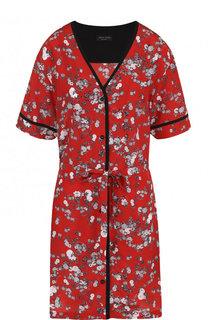 Шелковое мини-платье с цветочным принтом и поясом Rag&Bone Rag&Bone