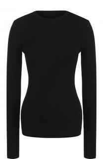 Приталенный однотонный пуловер с круглым вырезом Rick Owens