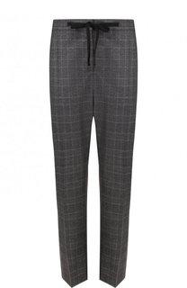 Укороченные шерстяные брюки прямого кроя Burberry