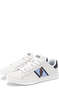 Кожаные кеды на шнуровке Polo Ralph Lauren