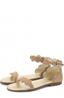 Замшевые сандалии на ремешке Gallucci