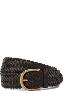 Плетеный кожаный ремень с металлической пряжкой Tom Ford