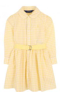 Хлопковое платье-рубашка с поясом Polo Ralph Lauren