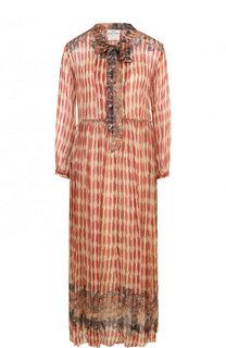 Платье-миди с принтом и завышенной талией Forte_forte