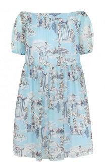 Приталенное мини-платье с принтом Blugirl