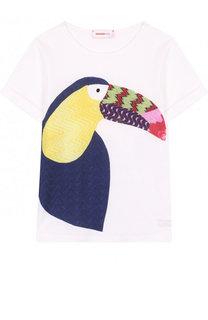 Хлопковая футболка с аппликацией Missoni