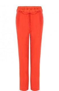 Укороченные шелковые брюки с эластичным поясом Roberto Cavalli