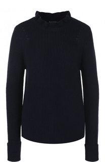 Пуловер фактурной вязки из смеси хлопка и кашемира Tara Jarmon
