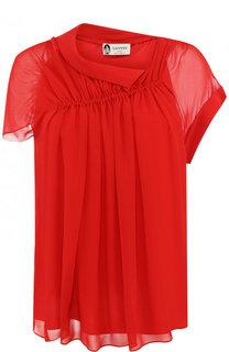 Шелковая блуза с драпировкой Lanvin