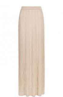 Однотонная вязаная юбка-макси M Missoni