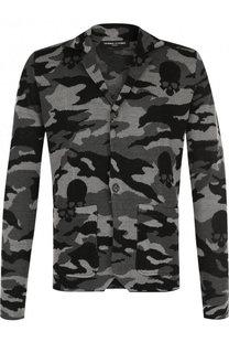 Однобортный льняной пиджак с камуфляжным принтом Gemma. H