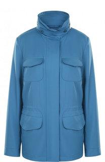 Приталенная куртка с карманами и воротником-стойкой Loro Piana