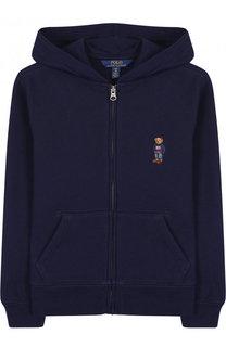 Хлопковый кардиган на молнии с капюшоном Polo Ralph Lauren