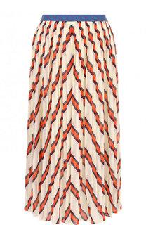 Плиссированная юбка-миди с принтом By Malene Birger