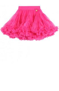Многослойная мини-юбка свободного кроя с оборкой Angel's Face