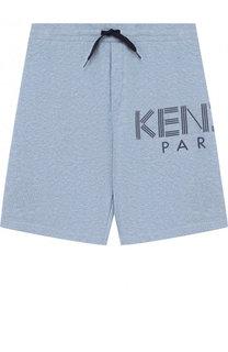 Хлопковые шорты с логотипом бренда Kenzo