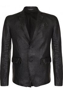 Кожаная куртка с отложным воротником Alexander McQueen