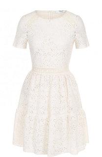 Приталенное кружевное мини-платье Blugirl