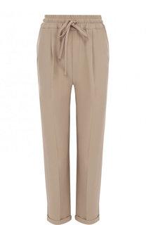 Однотонные укороченные брюки с эластичным поясом Kiton