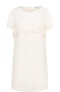 Кружевное мини-платье с оборкой Blugirl