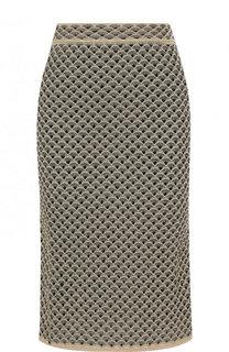 Вязаная юбка-миди с широким поясом M Missoni