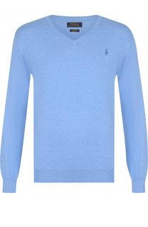Хлопковый однотонный пуловер Polo Ralph Lauren
