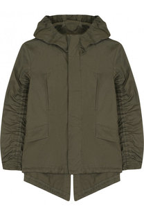 Хлопковая куртка с капюшоном и присборенными рукавами Marni
