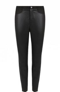 Укороченные однотонные брюки-скинни BOSS